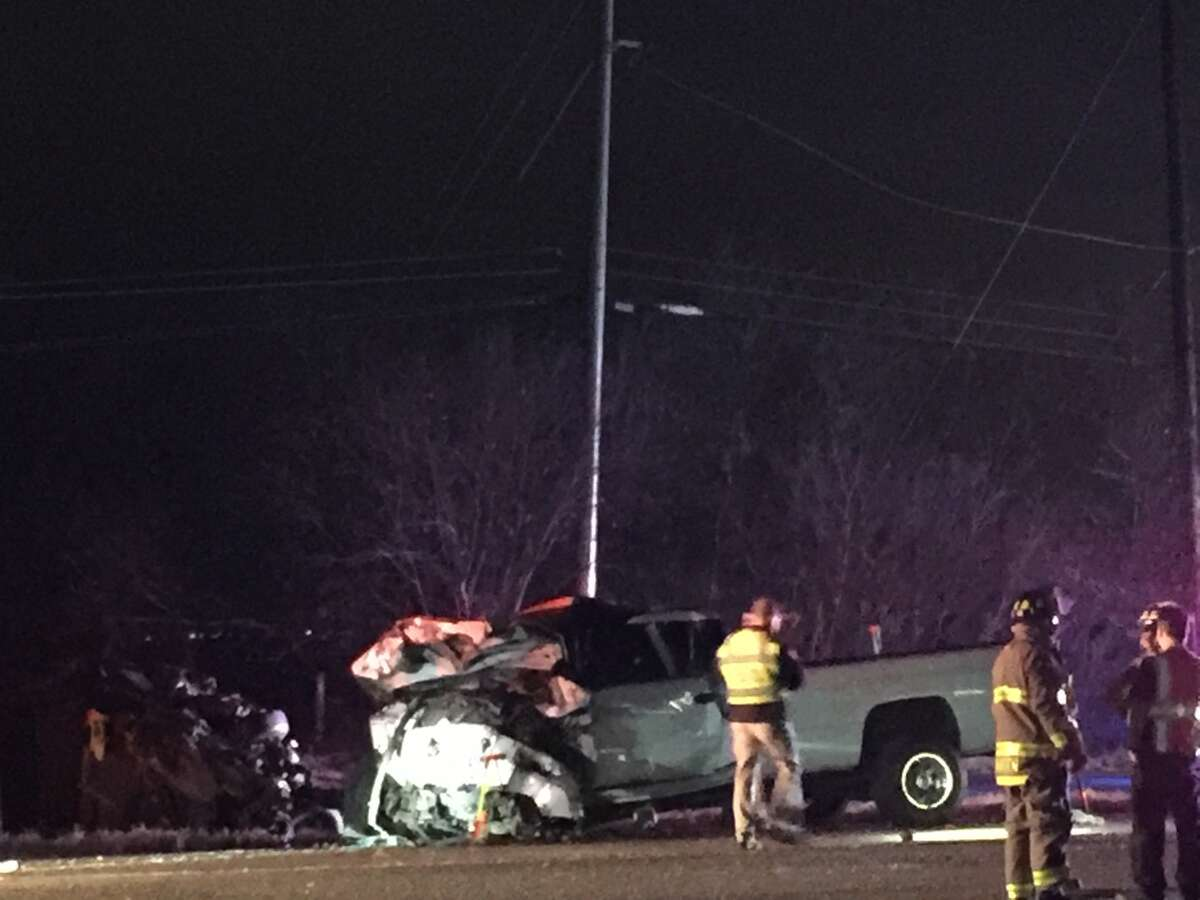 San Antonio police say two people are dead and 4 others injured following a wreck on the South Side Saturday evening, Jan. 6, 2018.