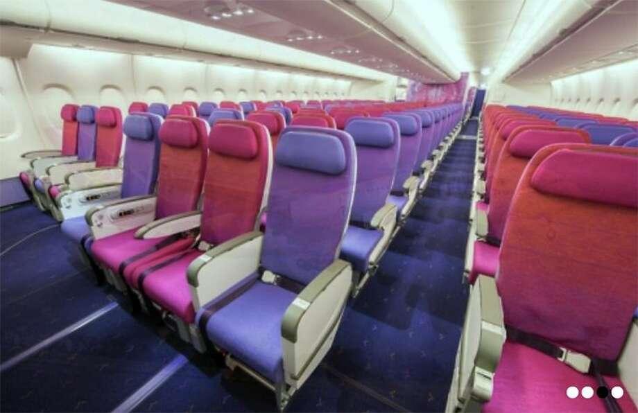 Typical Thai Airways economy cabin. (Image: Thai)