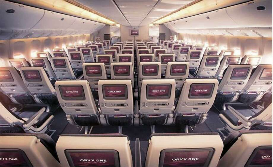 Economy class on a Qatar Airways widebody. (Image: Qatar)