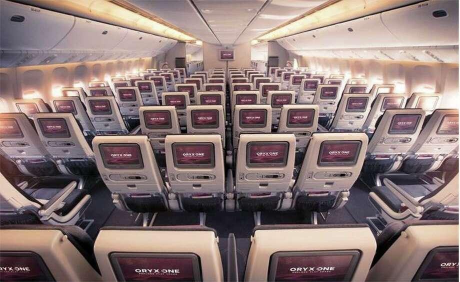 Economy class on a Qatar Airways widebody. (Image: Qatar)