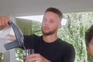 The internet lit up with reactions to Stephen Curry's new Brita water ad.