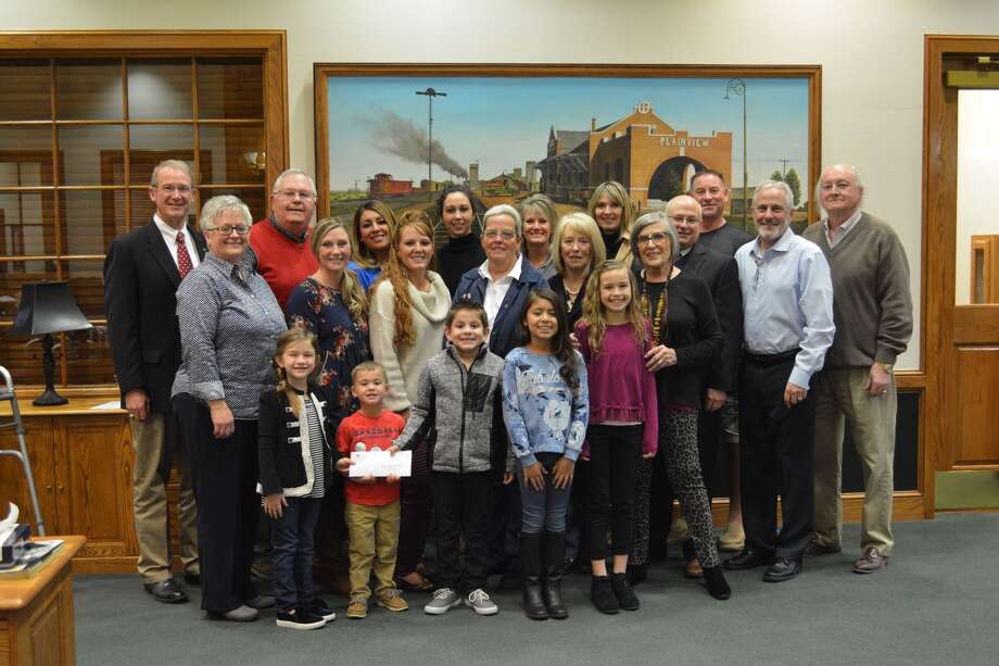 Members of the Plainview Area Endowment Advisory Board pose with recent recipients of $22,541 in grant funds awarded by the Endowment during a presentation at Happy State Bank.