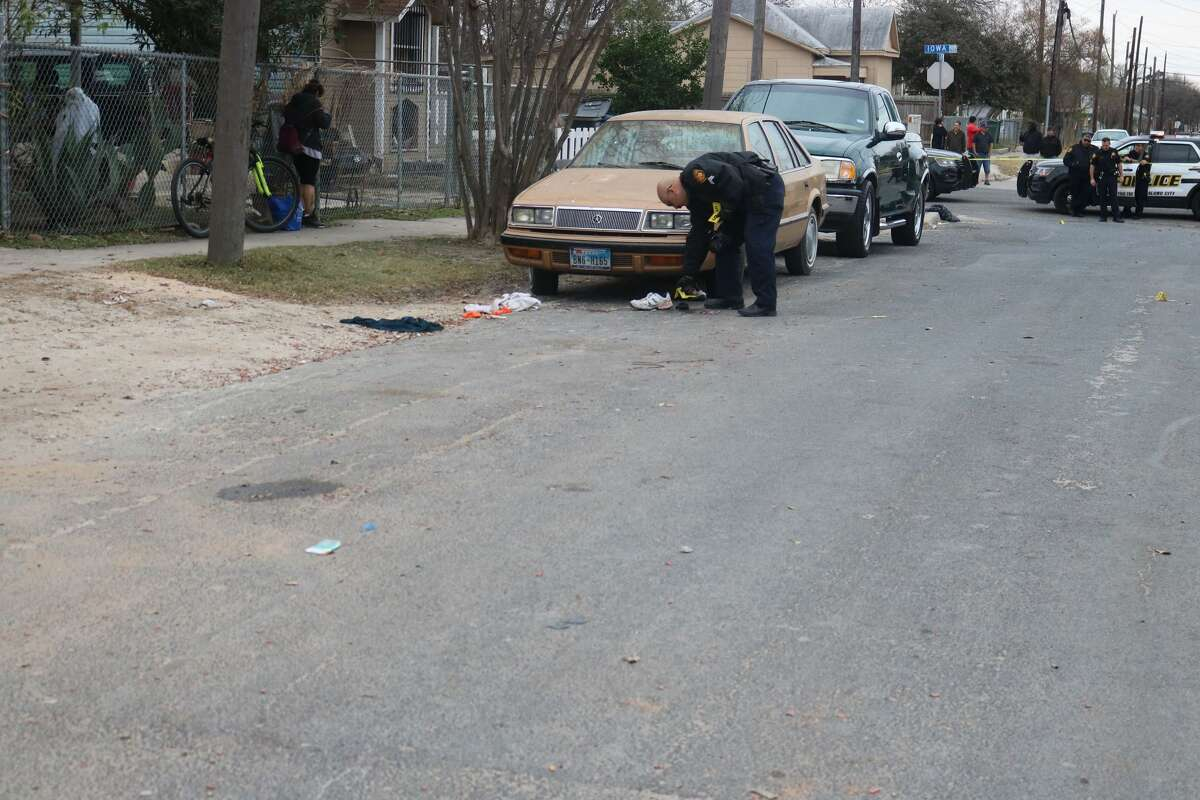 San Antonio police are looking for a man they say stabbed another on the East Side Sunday morning, Jan. 7, 2018.