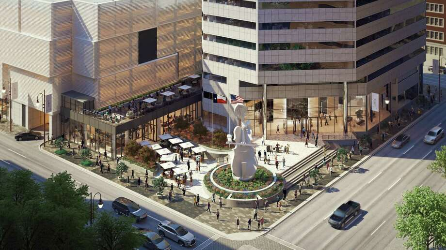 Artist rendering of Lyric Market, a culinary marketplace under construction 411 Smith at Prairie in downtown Houston. Developed by Houston real estate developer Jonathan Enav, the 31,000-square-foot Lyric Market is expected to open in fall 2018. Photo: Neezo Studio