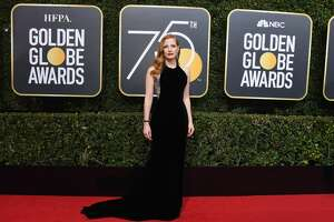 BEVERLY HILLS, CA - JANUARY 07:  75th ANNUAL GOLDEN GLOBE AWARDS -- Pictured: Actor Jessica Chastain arrives to the 75th Annual Golden Globe Awards held at the Beverly Hilton Hotel on January 7, 2018.  (Photo by Kevork Djansezian/NBC/NBCU Photo Bank via Getty Images)