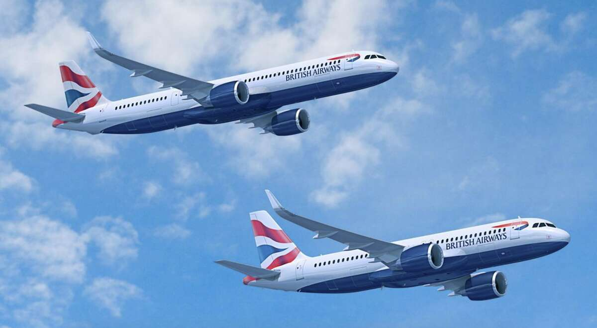 British Airways new Airbus A320neo and A321neo have larger winglets than older, non-neo versions