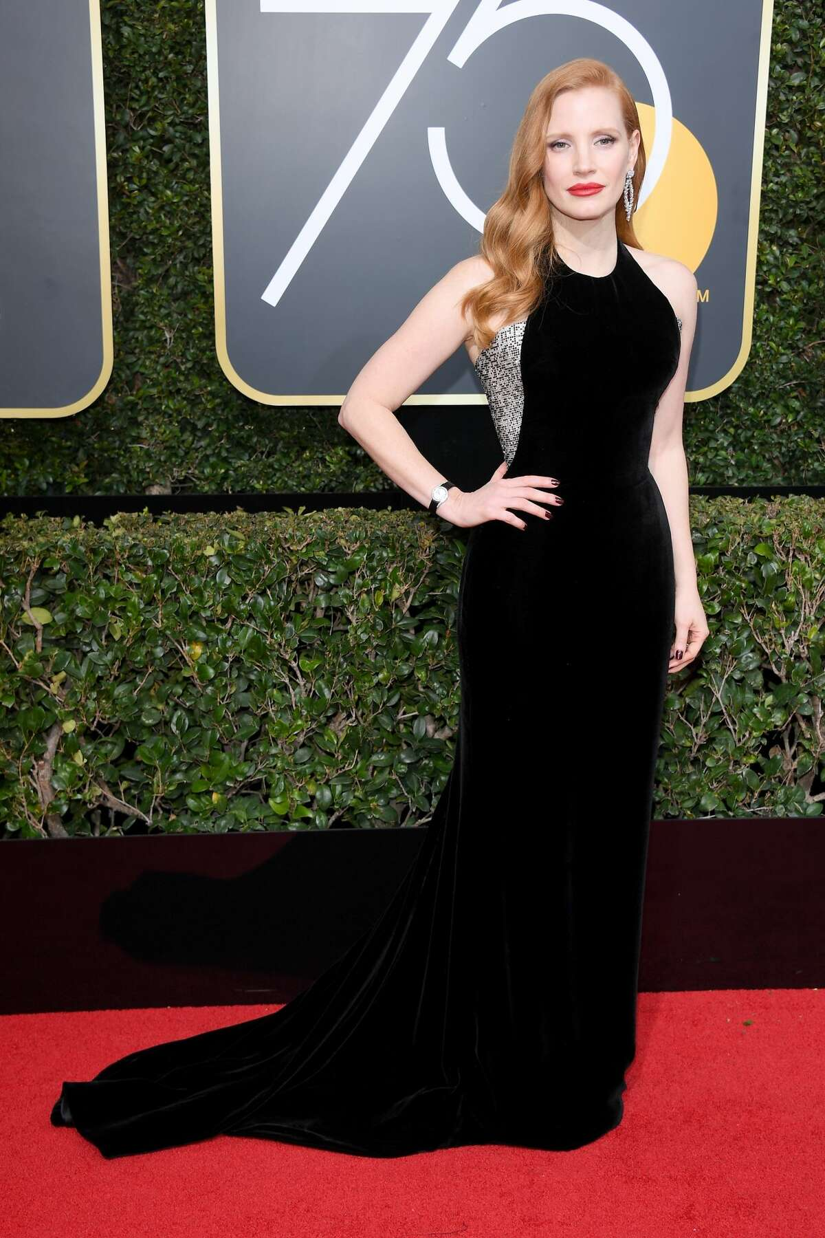 Best:Jessica Chastain's gown resembles Blake Lively's Golden Globe gown from last year (look it up), but she still looks terrific.