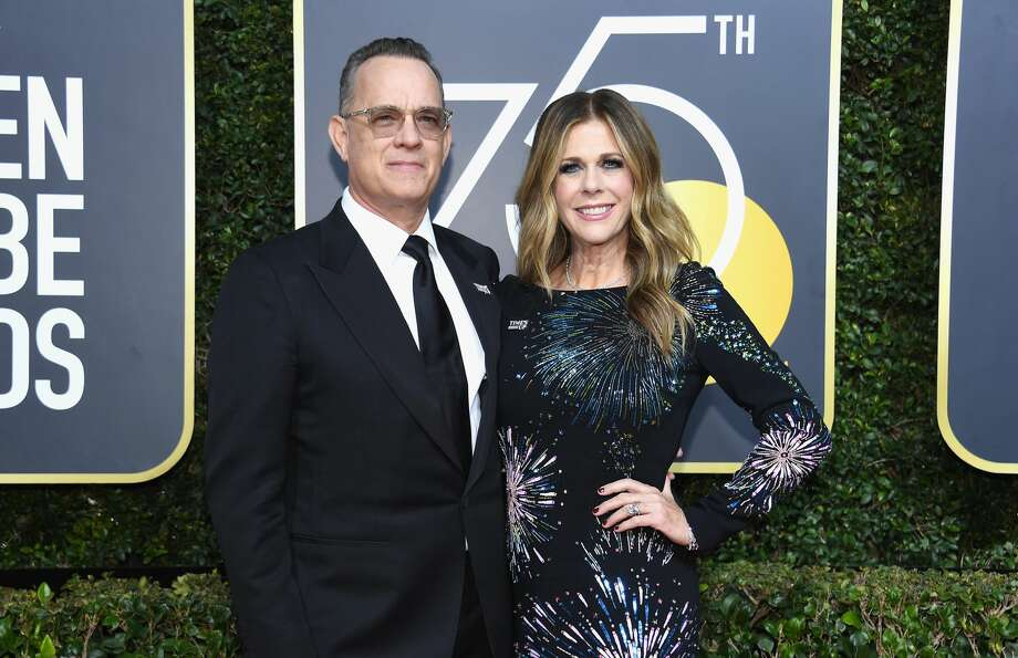 Actors Tom Hanks, left, and Rita Wilson arrive to the 75th Annual Golden Globe Awards held at the Beverly Hilton Hotel on January 7, 2018. Photo: Kevork Djansezian/NBC/NBCU Photo Bank Via Getty Images Via Getty Images
