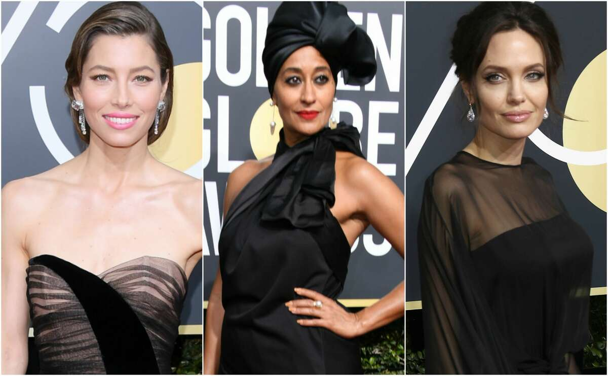Keep clicking to see which celebrities wore black the best at the 2018 Golden Globe Awards.