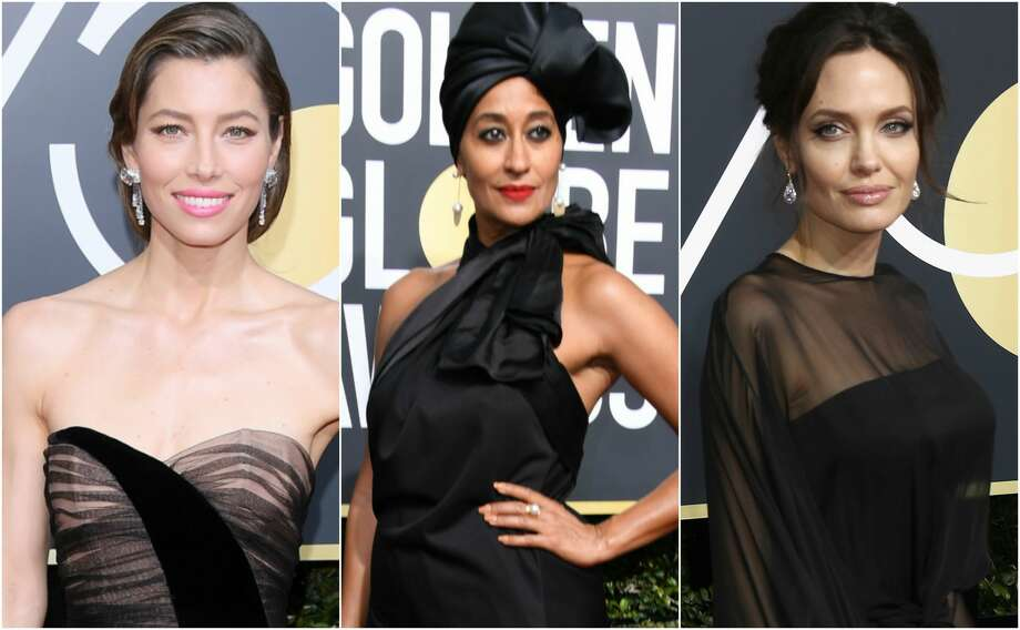 Keep clicking to see which celebrities wore black the best at the 2018 Golden Globe Awards. Photo: Getty Images