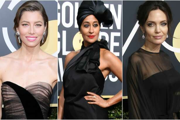 Keep clicking to see which celebrities wore black the best at the 2018 Golden Globe Awards