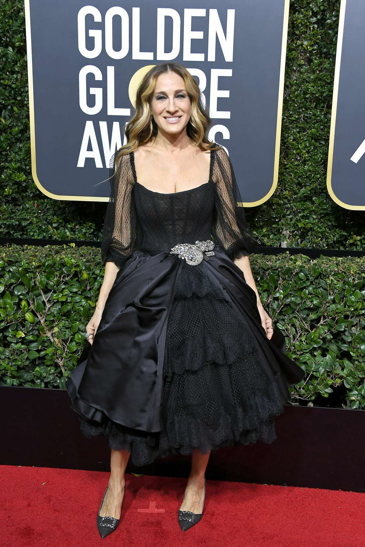 Sarah Jessica Parker attends The 75th Annual Golden Globe Awards at The Beverly Hilton Hotel on January 7, 2018 in Beverly Hills, California.