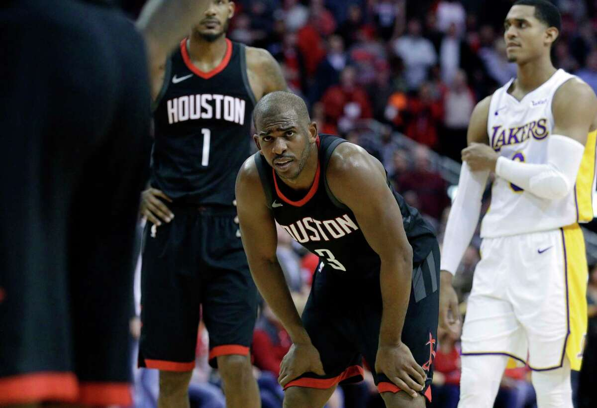 James Harden's injury shines the spotlight even brighter on Rockets guard Chris Paul (3) and his ability to remain healthy. Neither can be replaced easily.