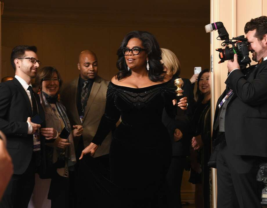 Oprah Winfrey, recipient of the Cecil B. DeMille Award, poses in the press room at the 75th Annual Golden Globe Awards held at the Beverly Hilton Hotel on January 7, 2018. Photo: Kevork Djansezian/NBC/NBCU Photo Bank Via Getty Images Via Getty Images