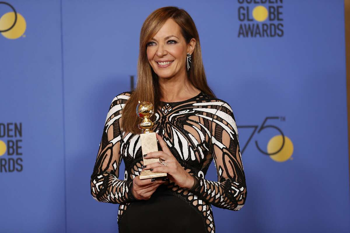 Allison Janney backstage at the 75th Annual Golden Globes at the Beverly Hilton Hotel in Beverly Hills, Calif., on Sunday, Jan. 7, 2018. (Allen J. Schaben/Los Angeles Times/TNS)