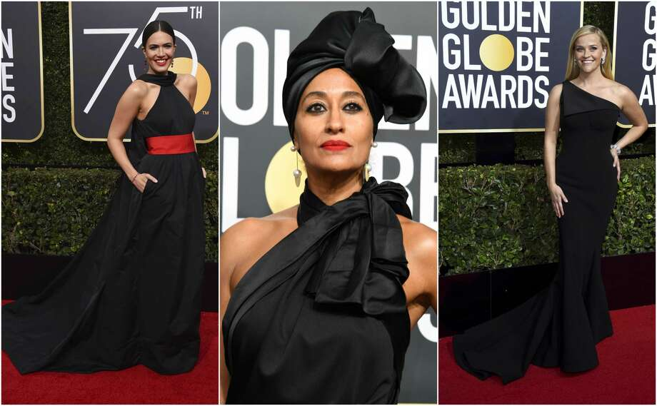 Mandy Moore, Tracee Ellis Ross and Reese Witherspoon looked fabulous and made political statements at the Golden Globes on Sunday. Photo: Jordan Strauss/INVL|Valerie Macon,  AFP Via Getty Images
