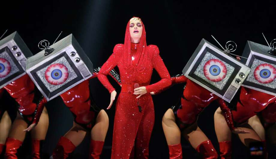 "Katy Perry performs during her ""Witness: The Tour"" concert at Toyota Center on Sunday, Jan. 7, 2018, in Houston. ( Yi-Chin Lee / Houston Chronicle ) Photo: Yi-Chin Lee/Staff Photographer / © 2018  Houston Chronicle"