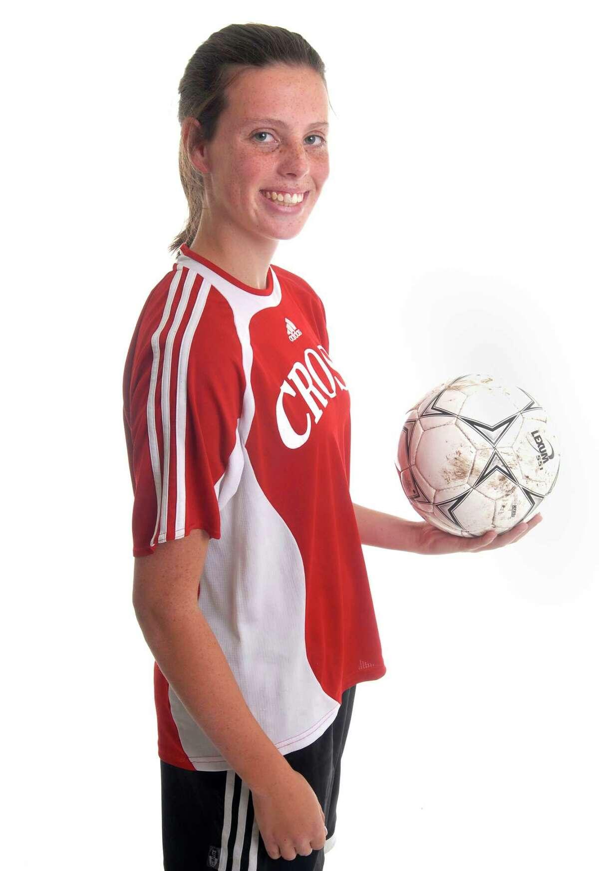Brad Horrigan   New Haven Register. BH0234. Natalie Beach, Wilbur Cross soccer.
