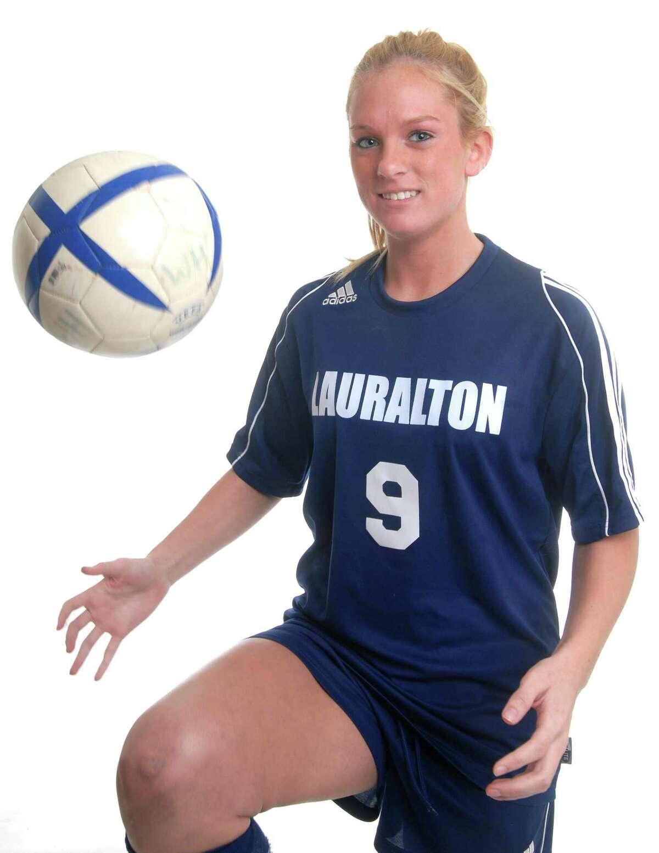 Brad Horrigan   New Haven Register. BH0234. Christina Collins, Lauralton Hall soccer.