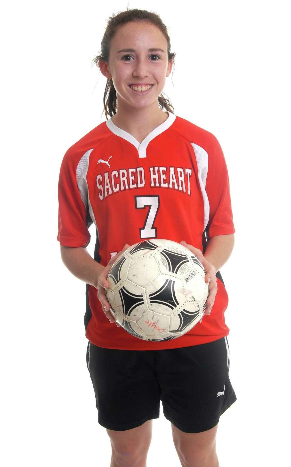 Brad Horrigan   New Haven Register. BH0234. Kerry Doyle, Sacred Heart soccer.
