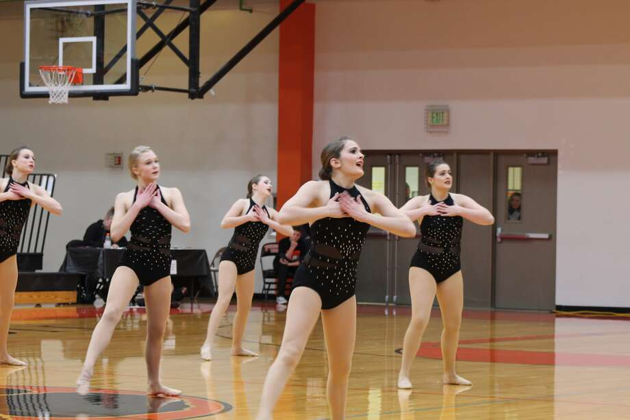 The Edwardsville High School dance team hosted the Illinois Drill Team Association regional competition Saturday in Lucco-Jackson Gymnasium. EHS placed first in hip-hop and lyrical dance, qualifying for the sectional competition. Photo: Bill Tucker • Btucker@edwpub.net