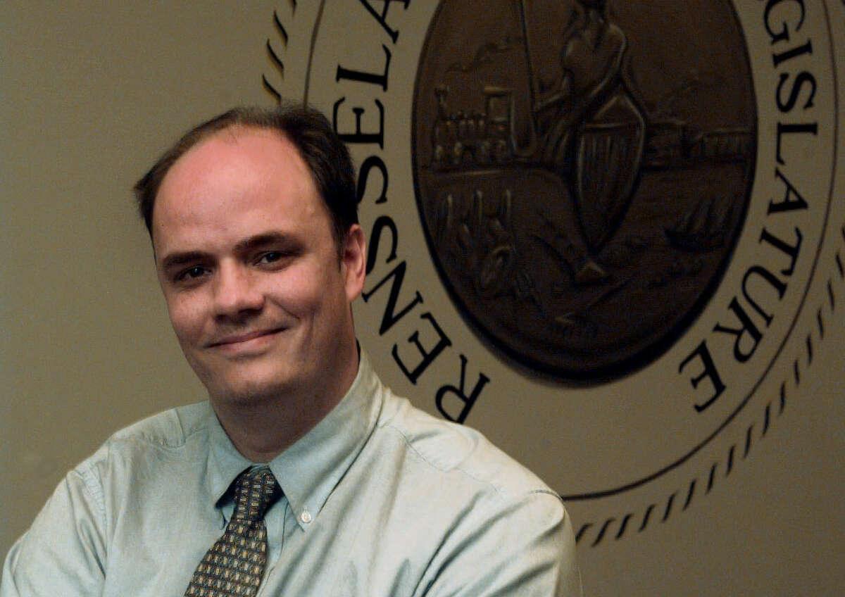 Richard Crist, liaison to the Rensselaer County Legislature majority, Troy. Thursday, October 19, 2000. (Jonathan Fickies/Times Union)