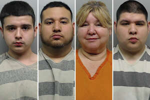 Four people were arrested Thursday following a raid in the Santa Fe neighborhood in south Laredo, police said.
