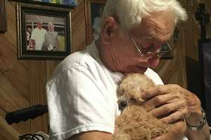 Chief is a 7-week-old Shih Tzu/Toy Poodle who joined the Arceneaux family on Dec. 28. Paul Arceneaux, 83, of Nederland had his left leg amputated in 2017 and was sincerely helped by their Chihuahua Gabby, who passed away on Christmas Day. Photo: Morgan Gstalter/Beaumont Enterprise