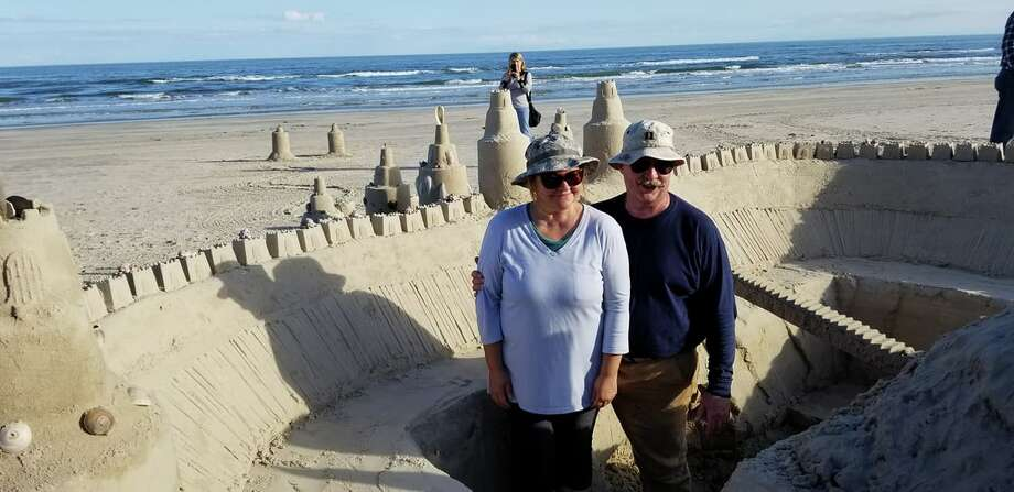 "Padre Island National Seashore: ""NOW THAT IS A SANDCASTLE!If you are at the seashore today to attend the sea turtle release you might want to take a walk up the beach after the event at noon. When you get to the beach in front of the Malaquite Campground you will see the sand castle that Meg and Michael Kolodzie have been working on for three days!"" Photo: Facebook/Padre Island National Seashore"