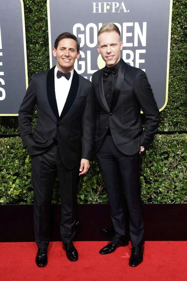BEVERLY HILLS, CA - JANUARY 07:  Benj Pasek and Justin Paul attend The 75th Annual Golden Globe Awards at The Beverly Hilton Hotel on January 7, 2018 in Beverly Hills, California.  (Photo by Frazer Harrison/Getty Images) Photo: Frazer Harrison / Getty Images / 2018 Getty Images
