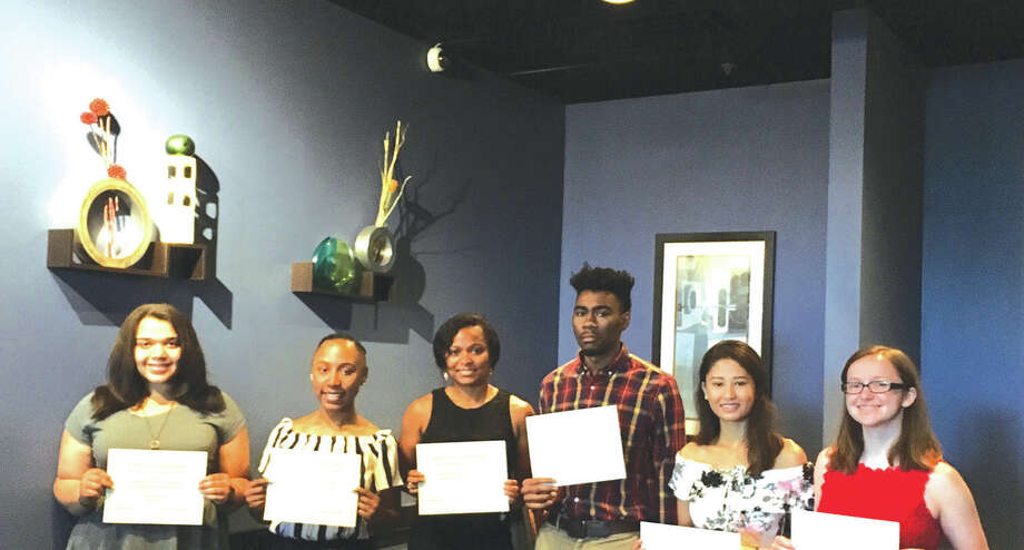 HLSAF 2017 education grant winners are, from left: Courtney Carpenter, Avalyn Mosby, Leeah Jason, D'Anthony Knight, Luniva Singh and Eleanor Stamer. Not pictured Include Edward Sims, Montrice Spencer, Charles Steed, Julann Scheibal, Daval Torres, Conor Charleston and Kendell Davis. Photo: For The Intelligencer
