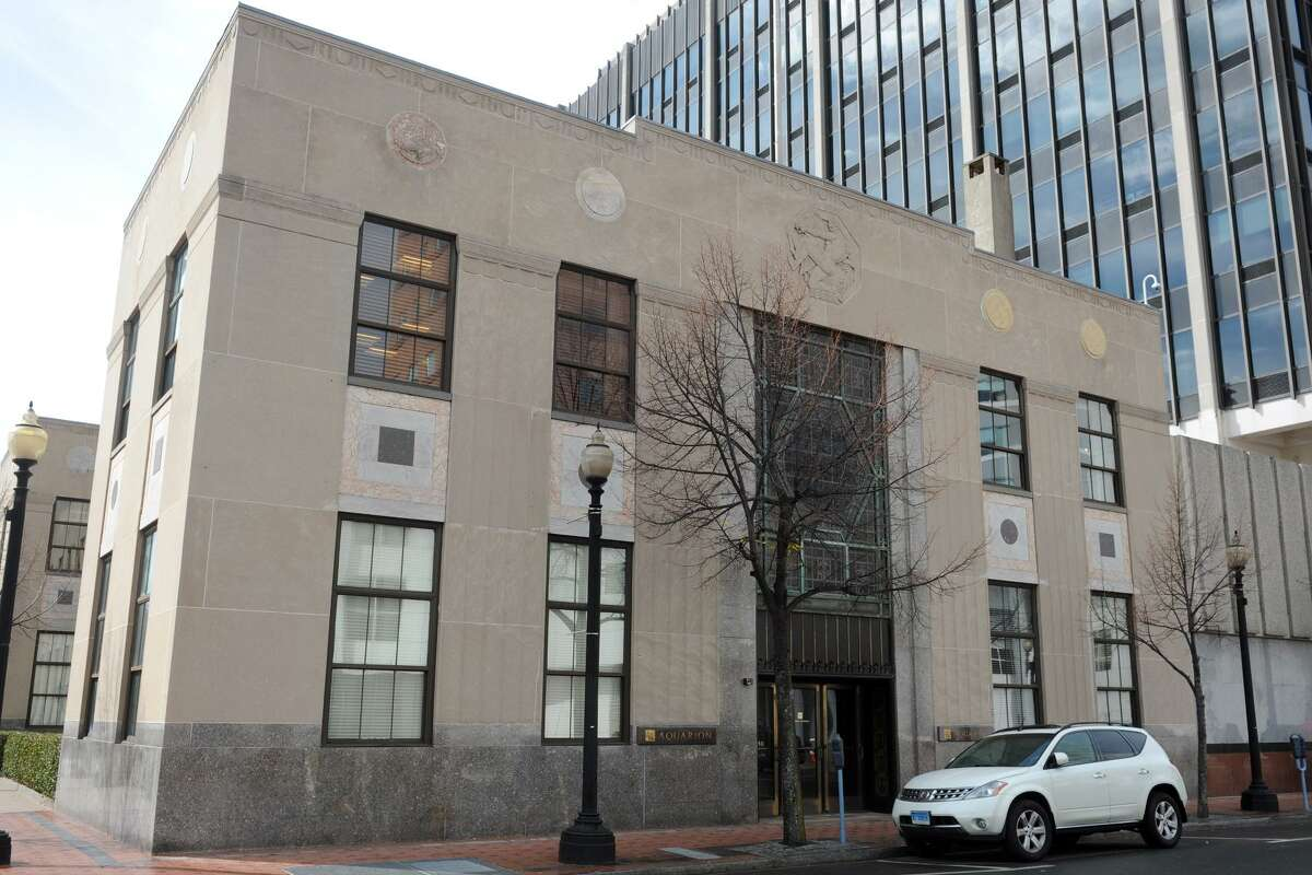 Aquarion Water Company headquarters at 835 Main St. in Bridgeport, Conn.
