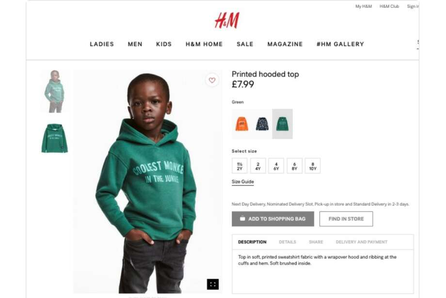 H&M's web ad for a hoodie has been slammed as racist