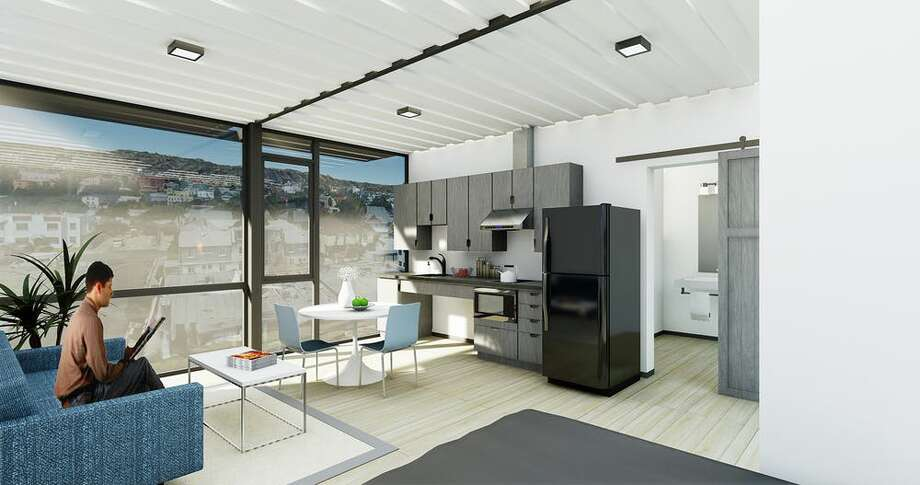 A rendering of the interior of a unit in the Hope on Alvarado Housing Project in Los Angeles. Photo: KTGY