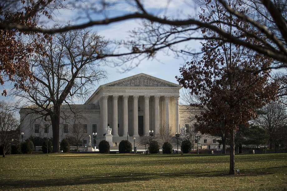 The Supreme Court building in Washington. The U.S. Supreme Court rejected a challenge Monday, Jan. 8, 2018, to California's ban on suction-dredge mining for gold.  (Al Drago/The New York Times) Photo: AL DRAGO, NYT