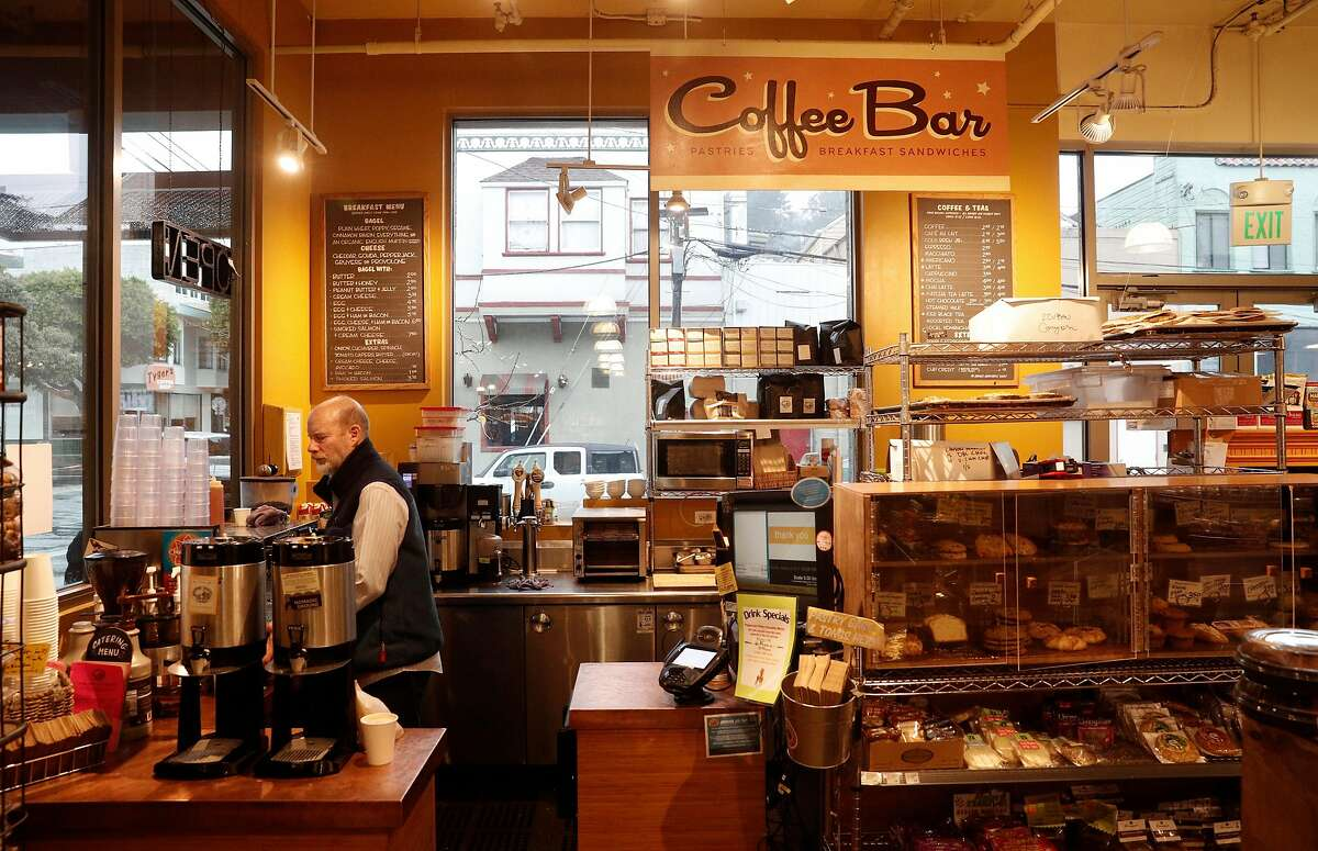 Richard Tarlov at the Canyon Market Coffee Bar in San Francisco, on Mon. January 8, 2018. Janet and Richard Tarlov, the co-owners of Canyon Market, carry the Four barrel espresso blend at their coffee bar as well as several Four Barrel coffee beans for sale. They are still trying to figure out what is the best decision for her business in the wake of Four Barrel's recent sexual harassment lawsuit.