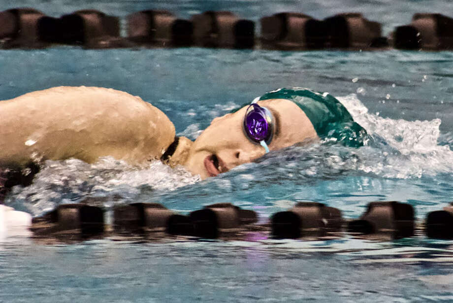 Kingwood Park sophomore Luisa Alcala captured the 200 yard freestyle race, helping the Kingwood Park swimming and diving teams defeat New Caney and Porter at their meet on January 5 at the Kingwood Park High School Natatorium Photo: Adriana Maxwell