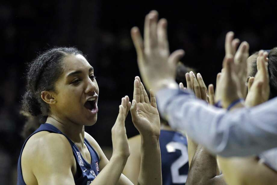 UConn's Gabby Williams is second in league play with an average of three steals per game. Photo: Chris O'Meara / Associated Press / Copyright 2018 The Associated Press. All rights reserved.