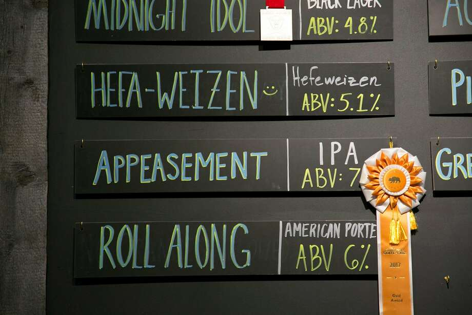Appeasement IPA is one of the award winning beers at Loma Brewing Co. Photo: Brian Feulner, Special To The Chronicle