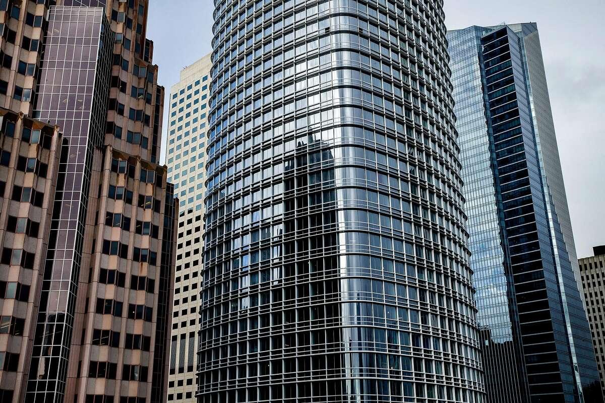 Salesforce Tower (center), Friday, Jan. 5, 2018, in San Francisco, Calif.