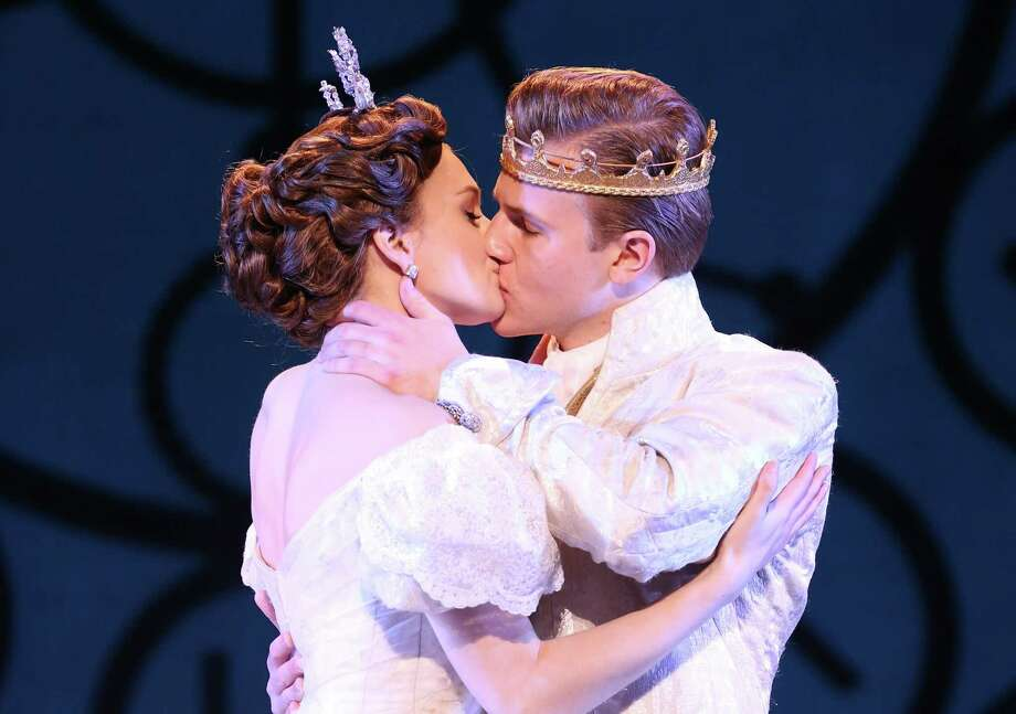"Tatyana Lubov (from left) and Louis Griffin star in Rodgers and Hammerstein's ""Cinderella,"" which is returning to the Majestic Theatre. Photo: Courtesy Carol Rosegg"