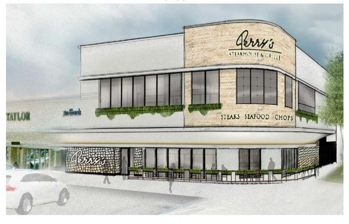 Rendering of Perry's Steakhouse at the River Oaks Shopping Center (Houston Archaeological and Historical Commission)