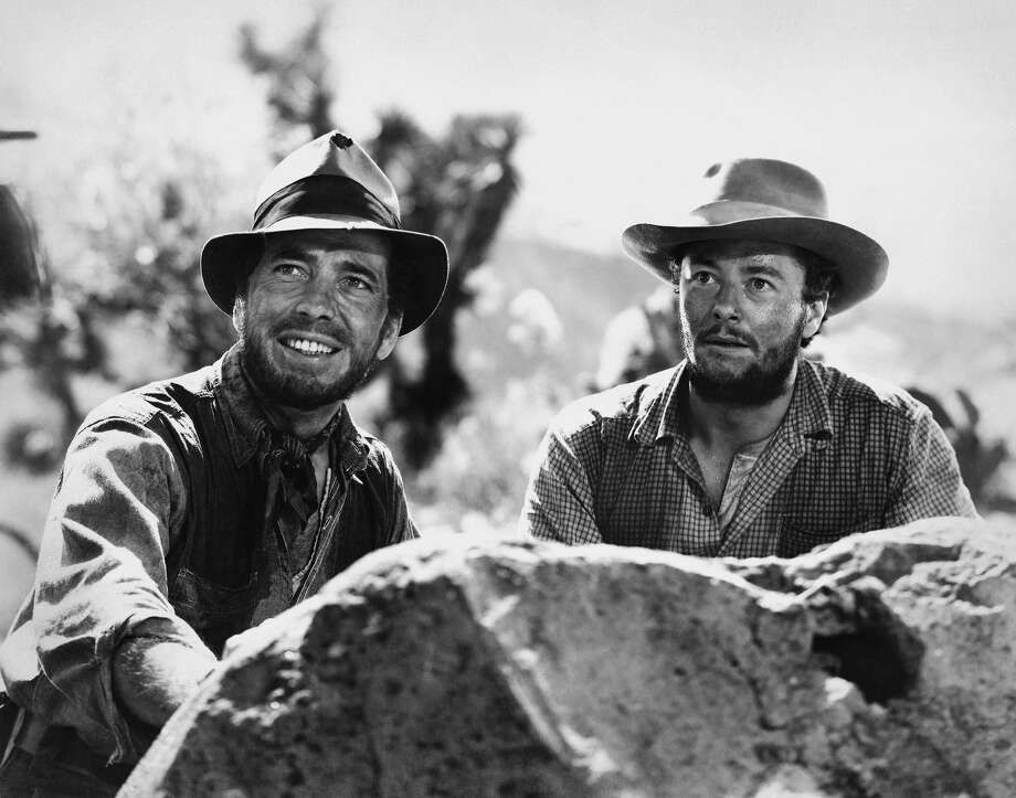 Actors Humphrey Bogart and Tim Holt pose for a publicity still for the Warner Bros/First National film 'The Treasure of the Sierra Madre.' (Photo by Donaldson Collection/Michael Ochs Archives/Getty Images) Photo: Photo By Donaldson Collection/Michael Ochs Archives/Getty Images