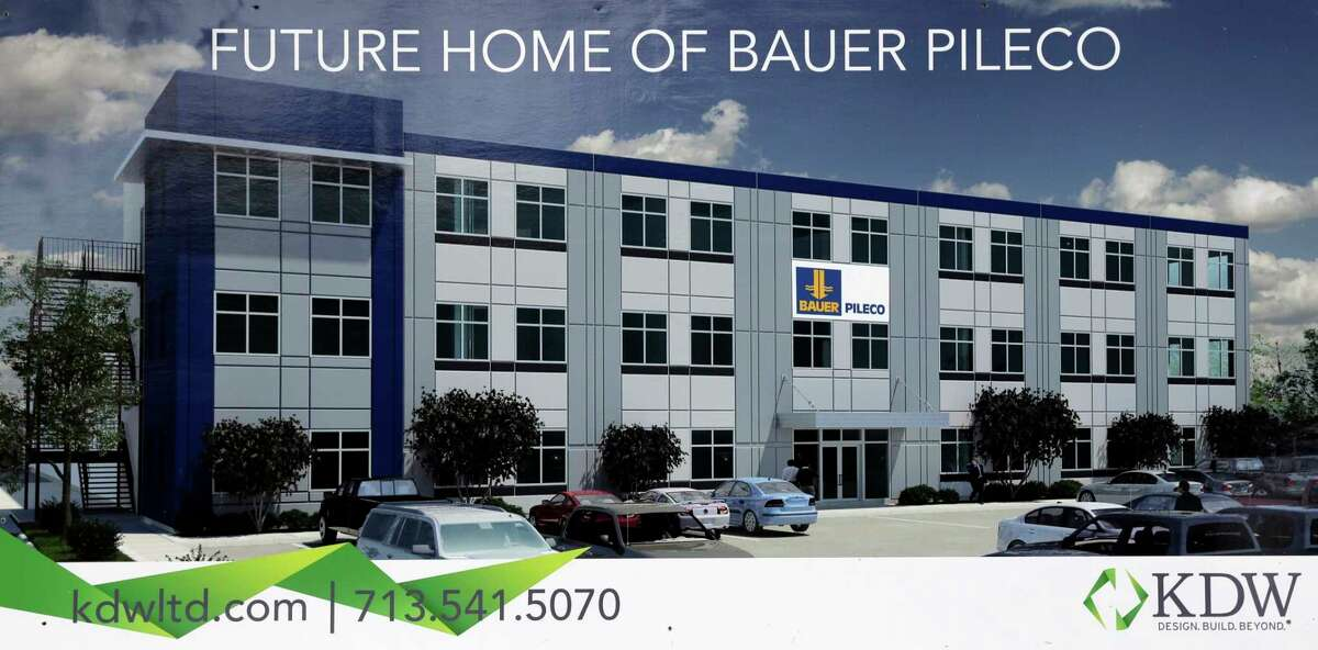 An artist's rendering of the new Bauer Pileco manufacturing facility in Conroe, TX, Dec. 22, 2107. (Michael Wyke / For the Chronicle)