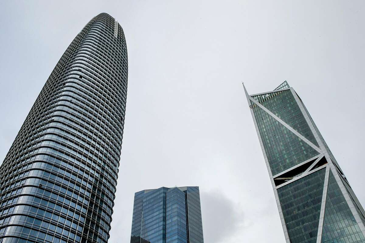 Salesforce Tower (left) and the Millennium Tower, Friday, Jan. 5, 2018, in San Francisco, Calif.