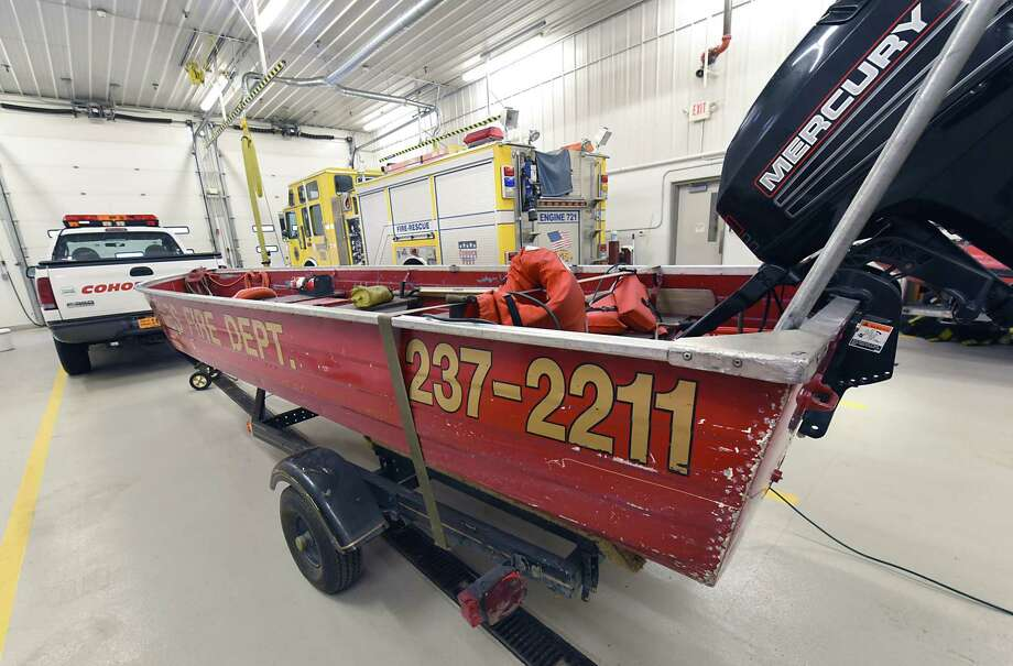 The existing pumpless fireboat at Cohoes Fire Department - Island Station on Monday, Jan. 8, 2018 in Cohoes N.Y. Cohoes Mayor Shawn Morse says the  the city needs to update their fireboat with the amount of new developments along the Hudson River. (Lori Van Buren / Times Union) Photo: Lori Van Buren, Albany Times Union / 20042602A