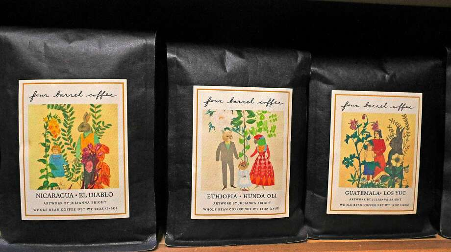 Four Barrel coffee beans for sale on the shelves at Canyon Market in San Francisco. Photo: Michael Macor, The Chronicle