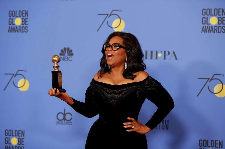Oprah Winfrey's acceptance speech for the Cecil B. DeMille lifetime achievement award sparked conversations nationwide about a 2020 presidential campaign. Photo: Allen J. Schaben, MBR / Los Angeles Times