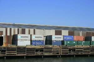 Containers await their next journey at Port Houston's docks.