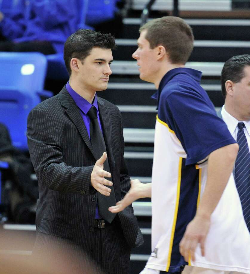 Former Quinnipiac manager Mike Papale during game against Bryant on January 31, 2011.